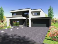 Maison toiture terrasse TT10 - Maisons Géode