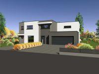 Maison toiture terrasse TT100 - Maisons Géode