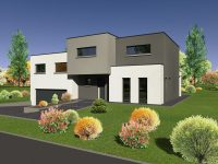 Maison toiture terrasse TT110 - Maisons Géode
