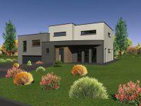 Maison toiture terrasse TT30 - Maisons Géode
