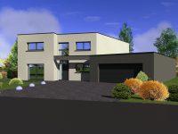 Maison toiture terrasse TT120 - Maisons Géode