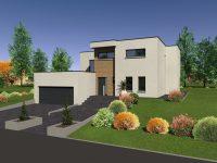 Maison toiture terrasse TT130 - Maisons Géode
