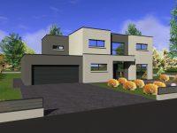 Maison toiture terrasse TT140 - Maisons Géode