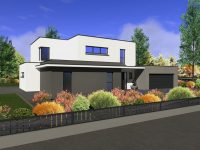 Maison toiture terrasse TT150 - Maisons Géode
