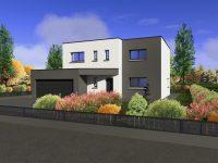 Maison toiture terrasse TT160 - Maisons Géode