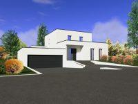 Maison toiture terrasse TT170 - Maisons Géode
